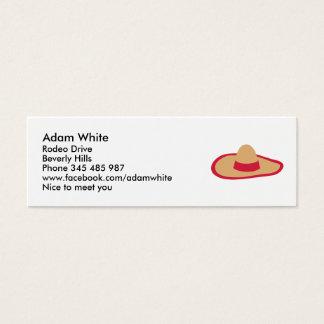 Sombrero Mini Business Card