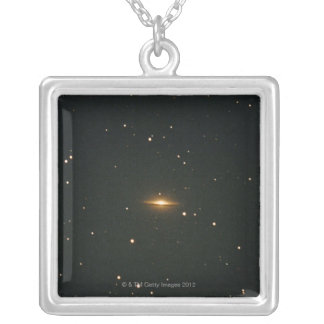Sombrero Nebula Silver Plated Necklace