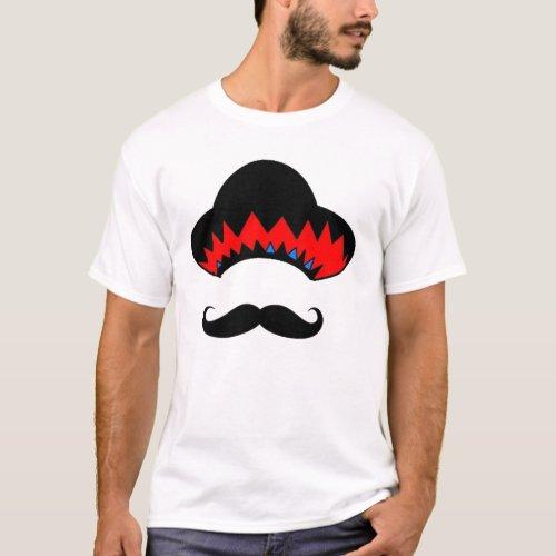 Sombrero  the stache T_Shirt