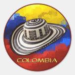 Sombrero Vueltiao Etiquetas Redondas