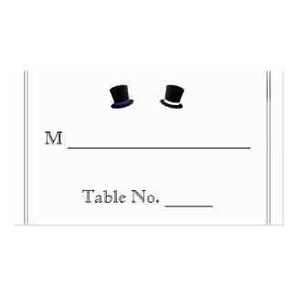 Sombreros de copa y tarjetas gay azules del lugar  tarjeta de negocio