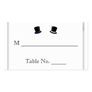 Sombreros de copa y tarjetas gay azules del lugar tarjetas de visita