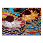 ¡sombreros Muchas Gracias! Tarjeta Pequeña
