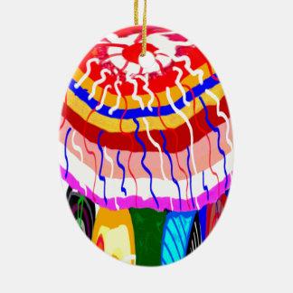 Sombrilla decorativa del toldo del toldo de la adorno navideño ovalado de cerámica