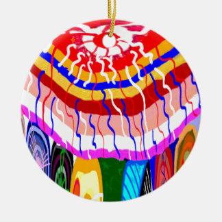 Sombrilla decorativa del toldo del toldo de la adorno navideño redondo de cerámica