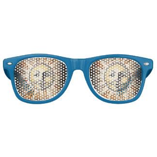 Sombrillas del fiesta de Sunface Lentes De Fiesta