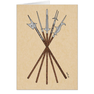 Some 16th Century Polearms Card
