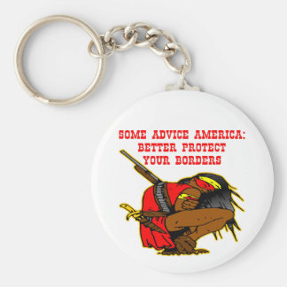 Some Advice; Protect Your Borders America Keychain