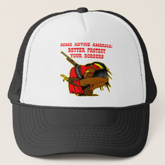 Some Advice; Protect Your Borders America Trucker Hat