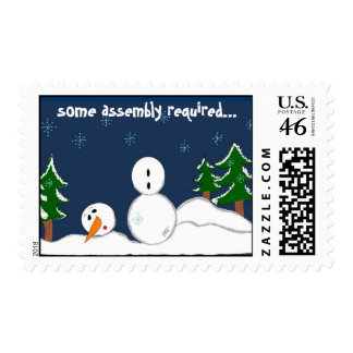 Some assembly required...Snowman Stamps