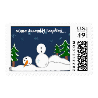Some Assistance Please Snowman Postage