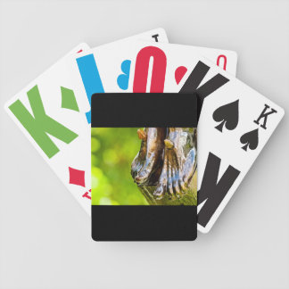 some believe in green bicycle playing cards
