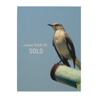 Some Birds Fly Solo Wood Print