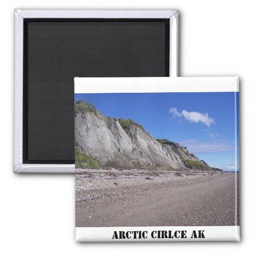 some bluff, ARCTIC CIRLCE AK Fridge Magnets