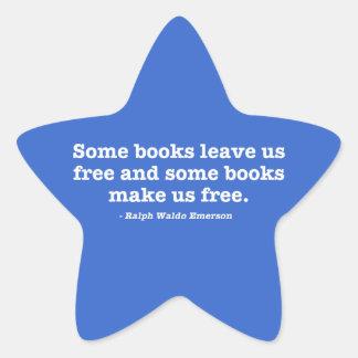 Some Books Make Us Free Star Sticker