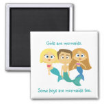 """""""Some Boys are Mermaids Too"""" Refrigerator Magnets"""