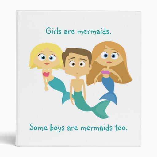"""""""Some Boys are Mermaids Too"""" Vinyl Binders"""