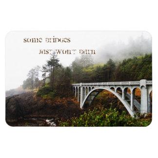 Some bridges just won't burn rectangular photo magnet