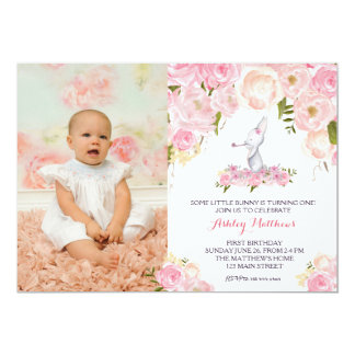 some bunny birthday invitation