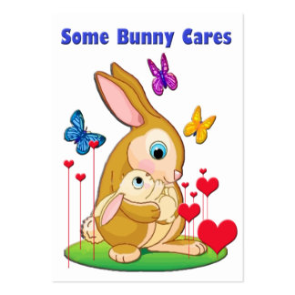 Some Bunny Cares Cards to Hand Out for Kids Large Business Cards (Pack Of 100)