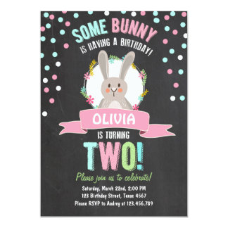 Some Bunny Easter Spring Birthday Invitation