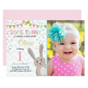 At easter birthday invitations zazzle some bunny easter spring birthday invitation filmwisefo