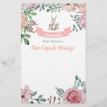 "Some Bunny Floral Birthday Time Capsule Note<br><div class=""desc"">A precious time capsule note to match your little bunny&#39;s birthday invitation!</div>"
