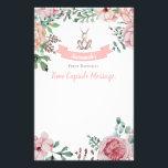 "Some Bunny Floral Birthday Time Capsule Note Stationery<br><div class=""desc"">A precious time capsule note to match your little bunny&#39;s birthday invitation!</div>"