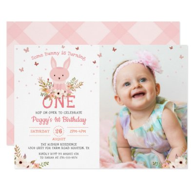 Butterfly Birthday Invitation 1st