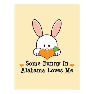Some Bunny In Alabama Loves Me Postcard