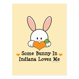 Some Bunny In Indiana Loves Me Postcard