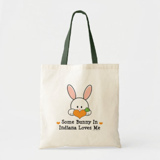 Some Bunny In Indiana Loves Me Tote Bag