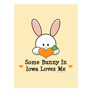 Some Bunny In Iowa Loves Me Postcard