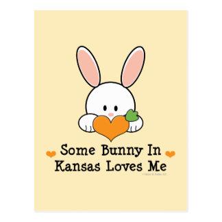 Some Bunny in Kansas Loves Me Postcard