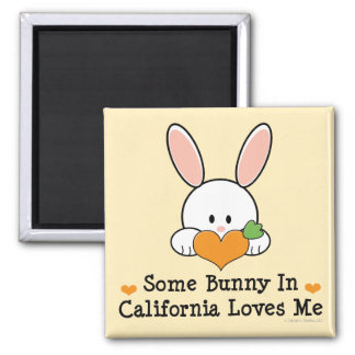 Some Bunny In Louisiana Loves Me 2 Inch Square Magnet