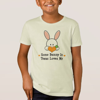 Some Bunny In Texas Loves Me Kids Organic Tshirt