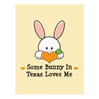 Some Bunny In Texas Loves Me Postcard