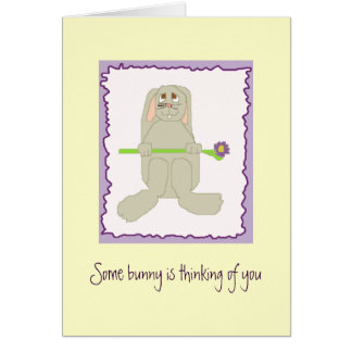 Some bunny is thinking of you card