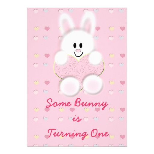 Some Bunny is Turning One Invitation