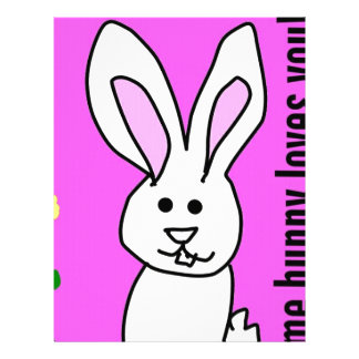 some bunny love you letterhead