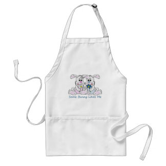 Some Bunny Loves Me. Adult Apron