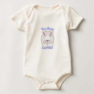 Some-Bunny Loves Me (blue) Baby Bodysuit
