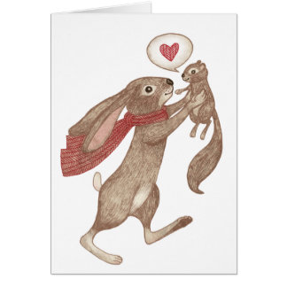 some bunny loves me card