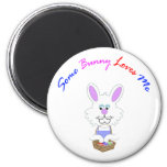 Some Bunny Loves Me circular magnet