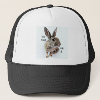 Some Bunny Loves Me Collection Rabbit Easter Trucker Hat