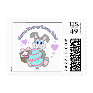 Some Bunny Loves Me! Easter Bunny Postage Stamps