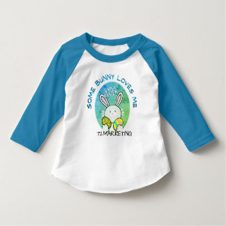 Some Bunny Loves Me Spring Easter Bunny Raglan T-Shirt