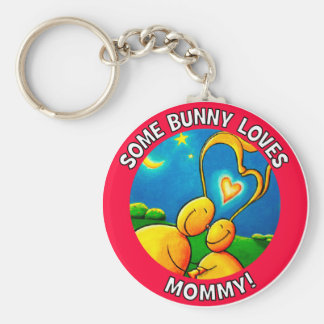 Some bunny loves MOMMY Keychain
