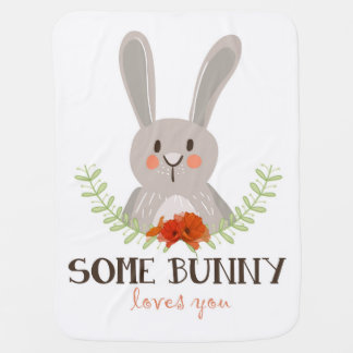 Some bunny loves you Blanket wreath