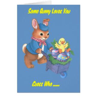 Some Bunny Loves You Card (Boy) customizable